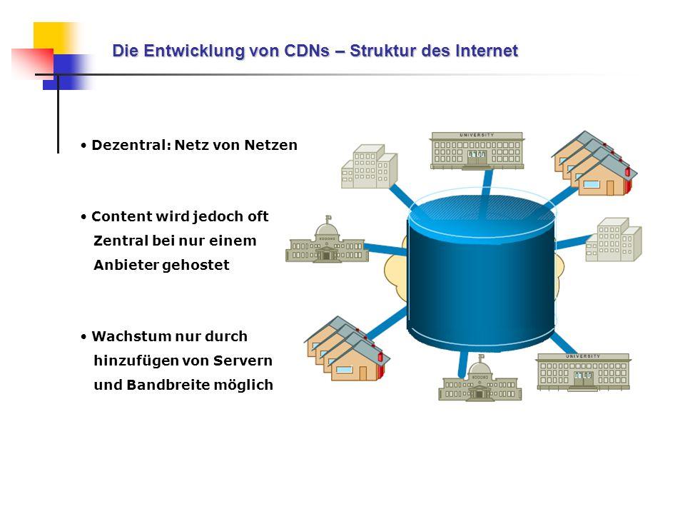 Die Entwicklung von CDNs – Struktur des Internet