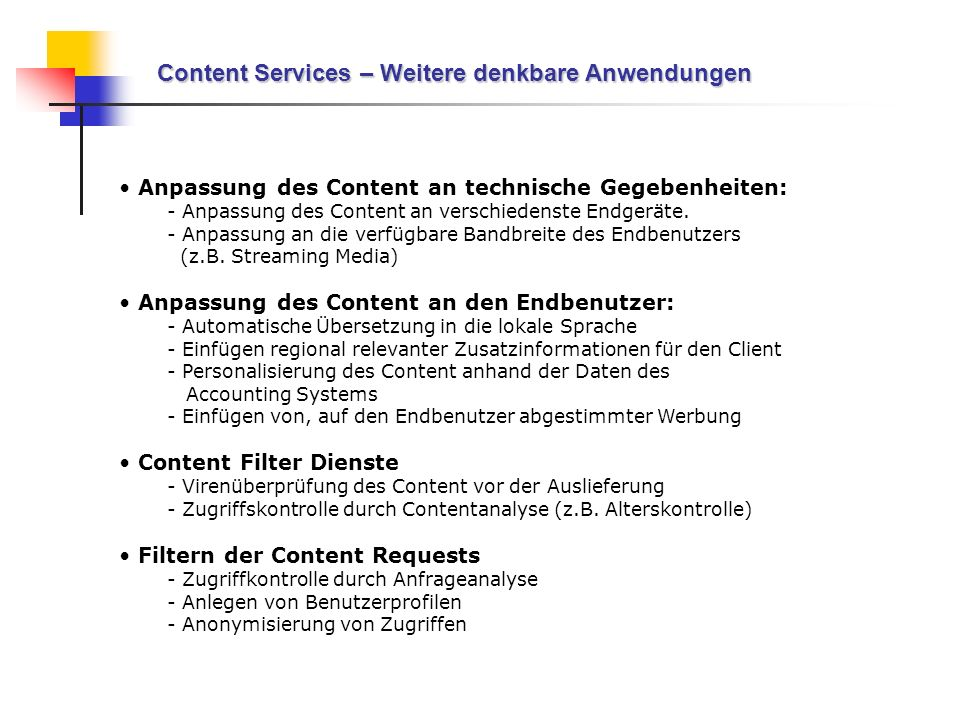 Content Services – Weitere denkbare Anwendungen
