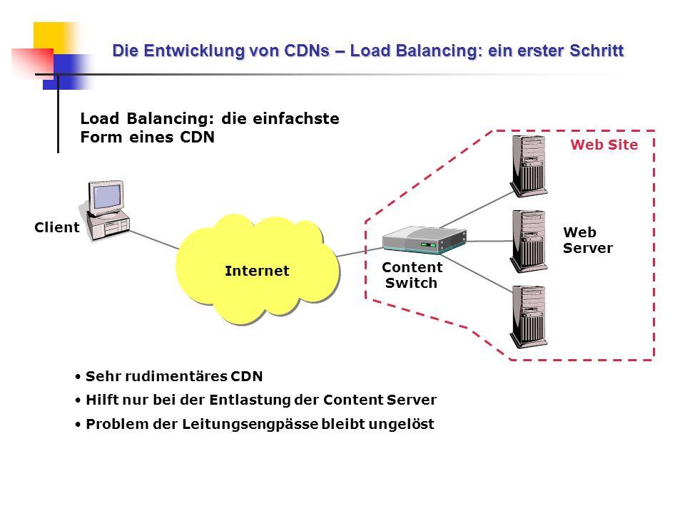 Die Entwicklung von CDNs – Load Balancing: ein erster Schritt