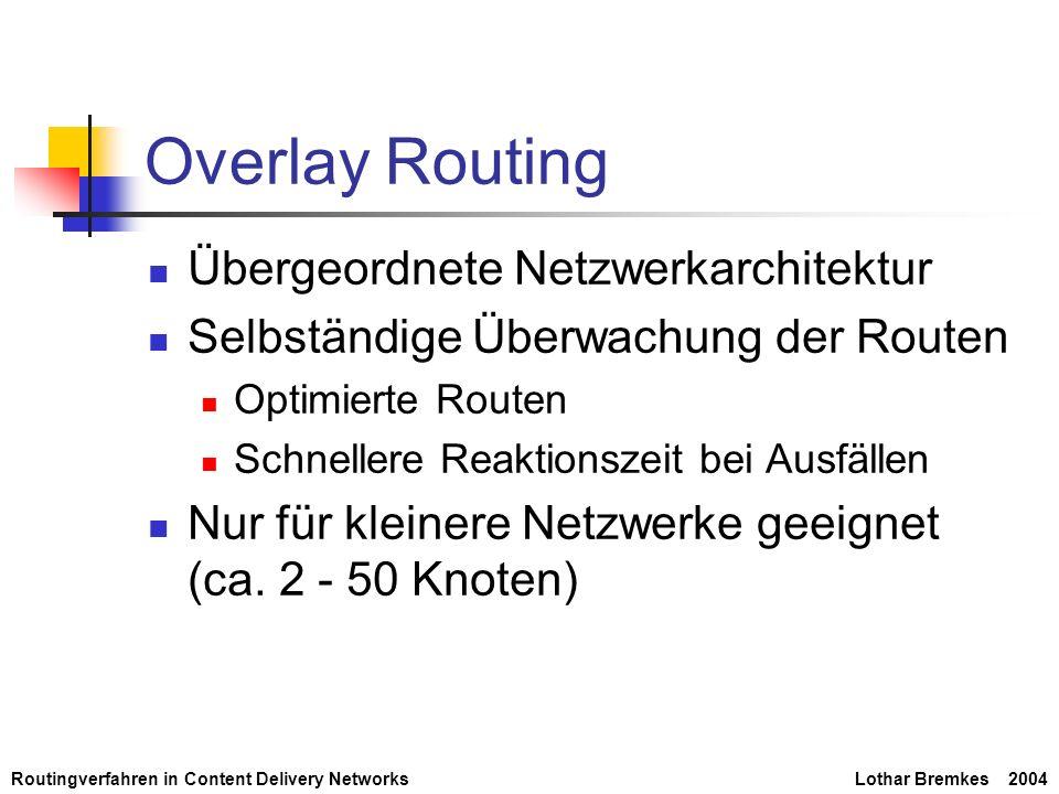 Overlay Routing Übergeordnete Netzwerkarchitektur