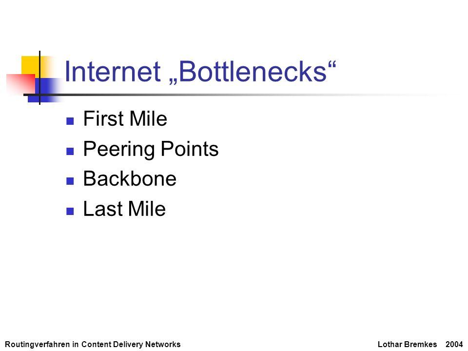 """Internet """"Bottlenecks"""
