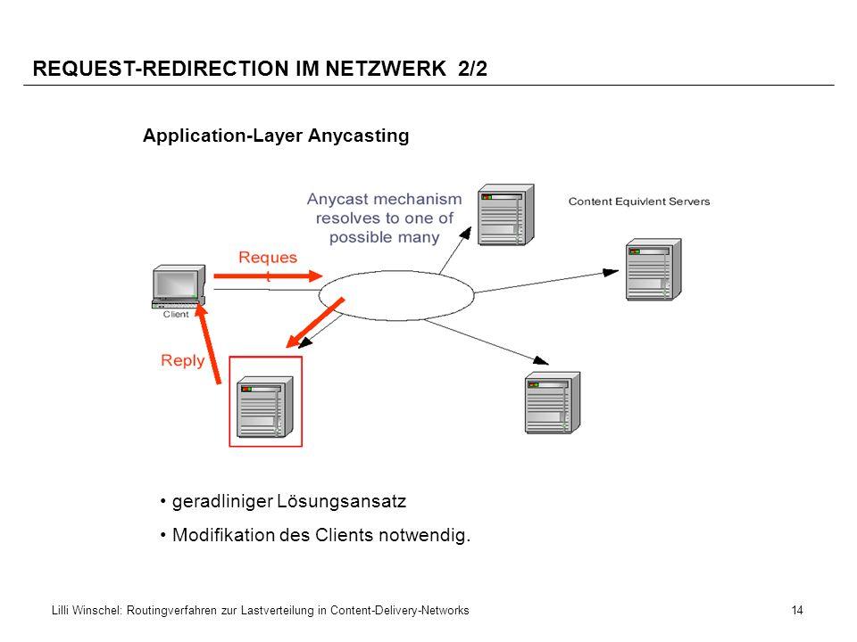 REQUEST-REDIRECTION IM NETZWERK 2/2