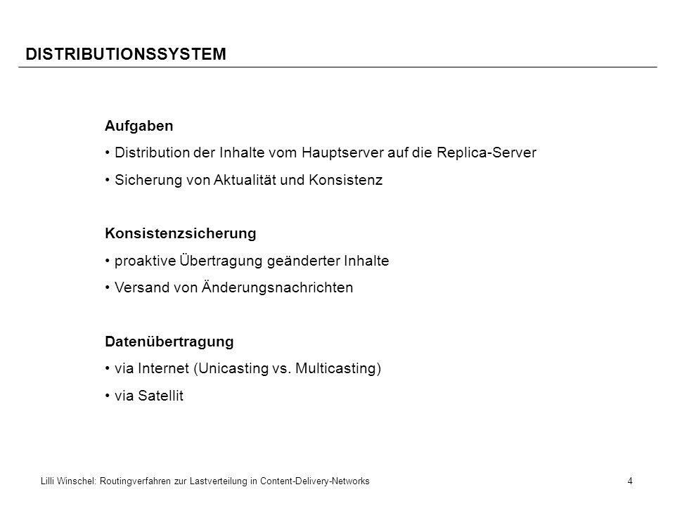 DISTRIBUTIONSSYSTEM Aufgaben