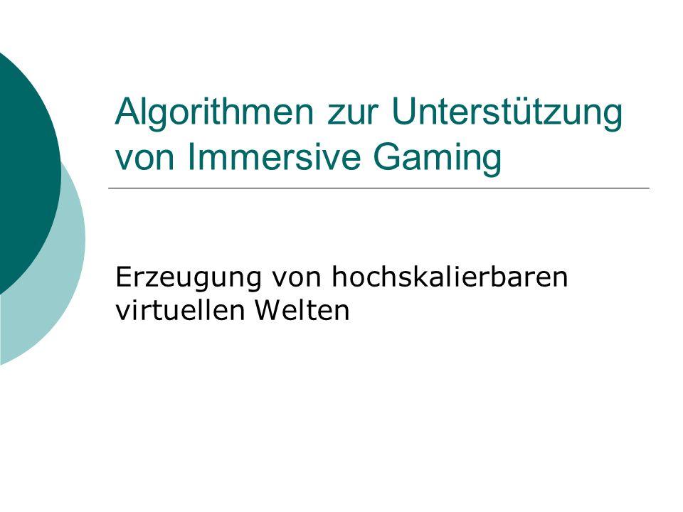 Algorithmen zur Unterstützung von Immersive Gaming