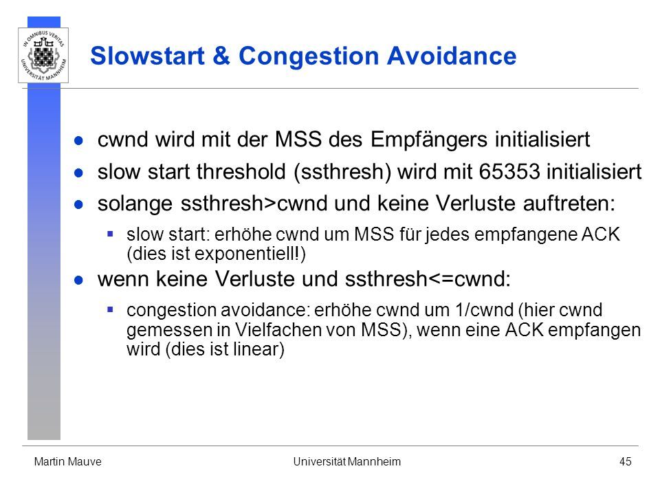 Slowstart & Congestion Avoidance