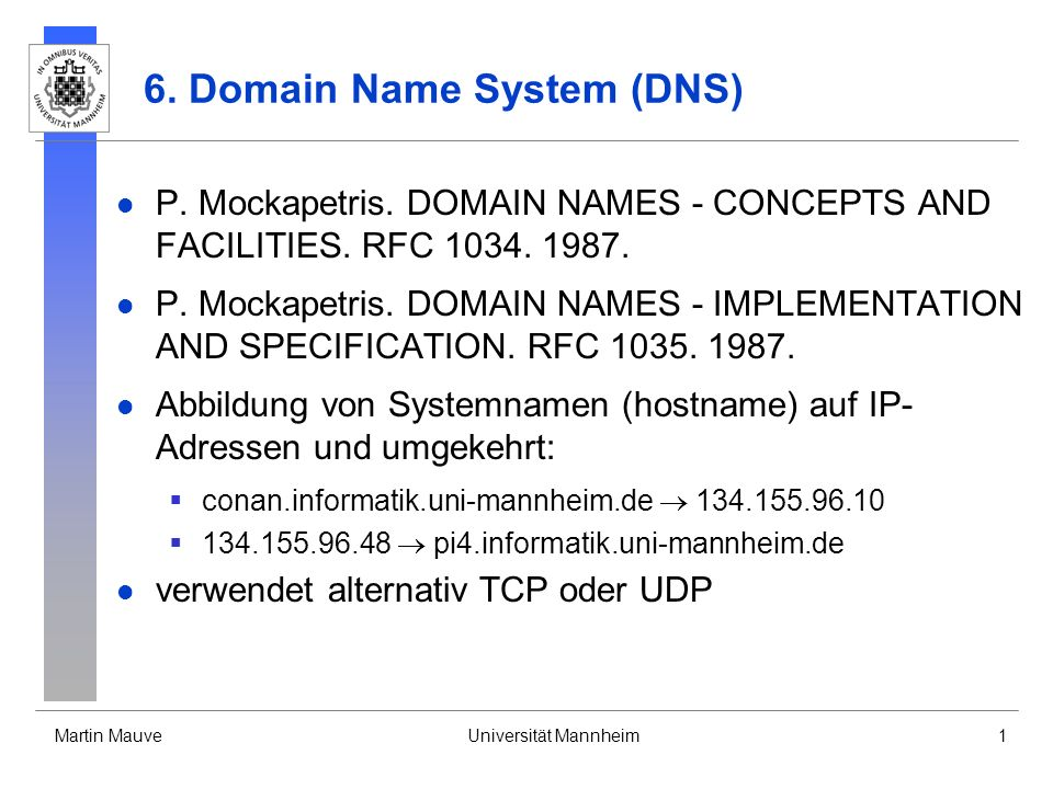 6. Domain Name System (DNS)