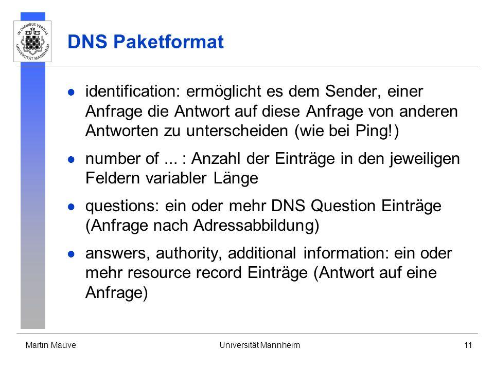 DNS Paketformat