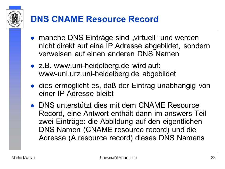 DNS CNAME Resource Record