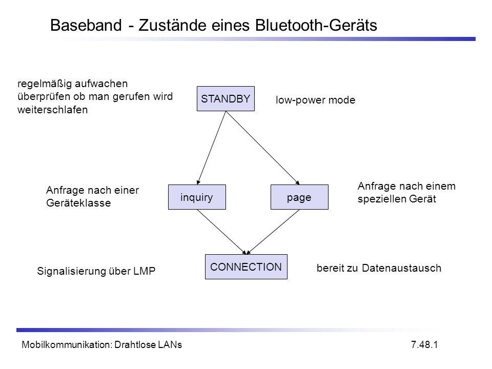 Baseband - Zustände eines Bluetooth-Geräts
