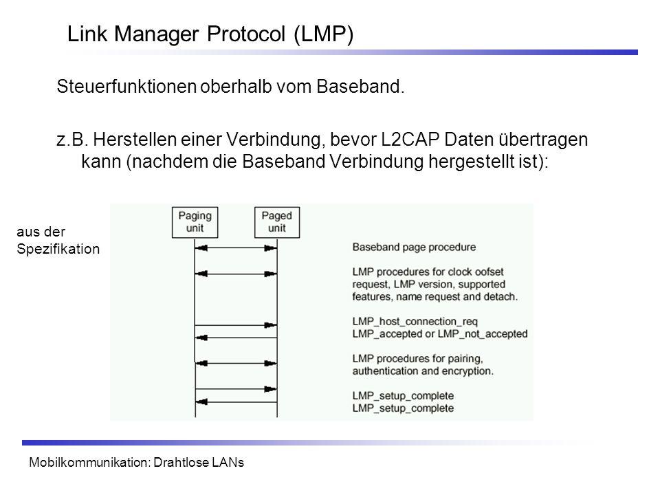 Link Manager Protocol (LMP)