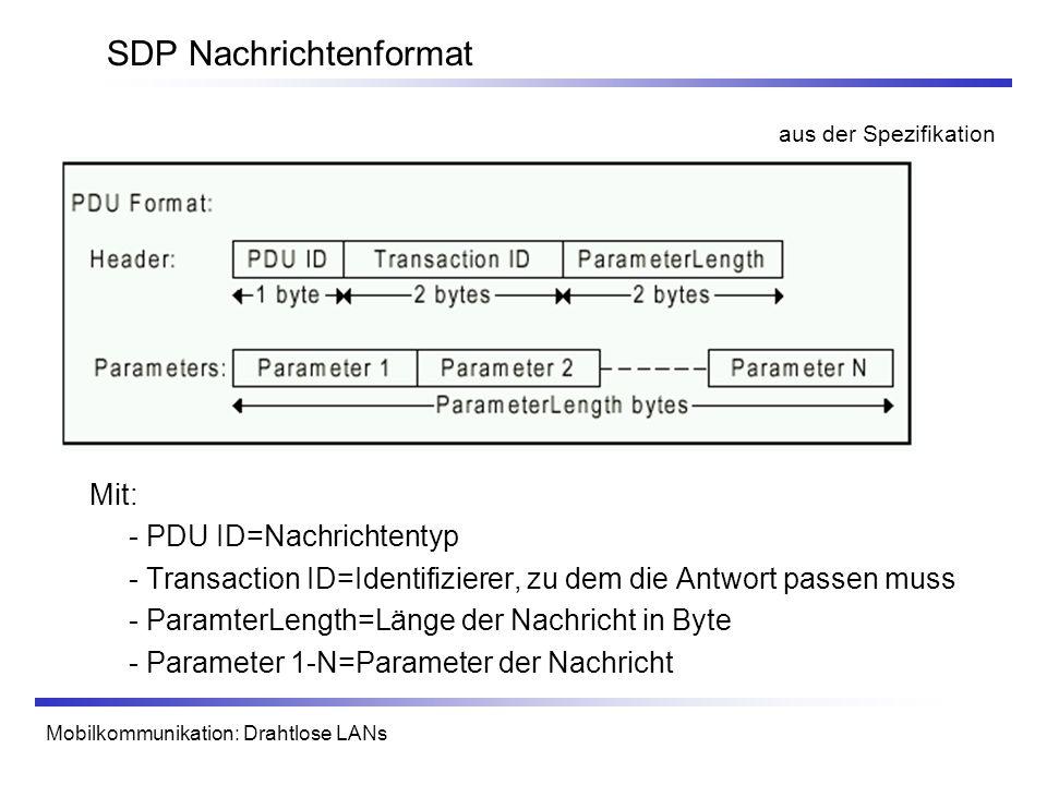 SDP Nachrichtenformat