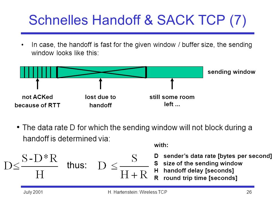 Schnelles Handoff & SACK TCP (7)