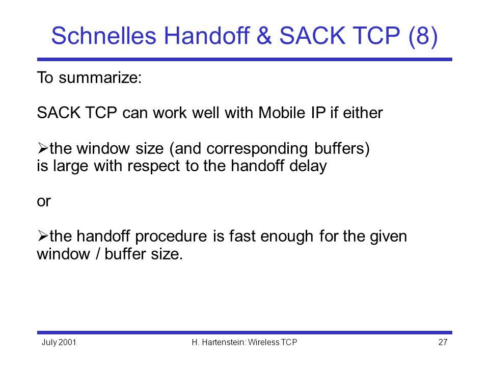 Schnelles Handoff & SACK TCP (8)