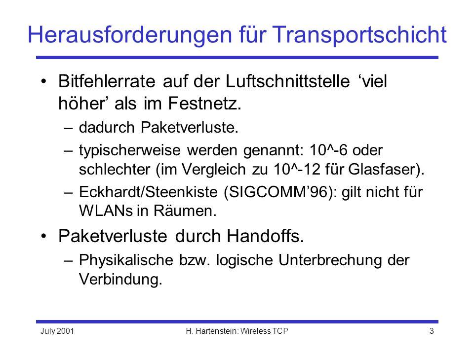 Herausforderungen für Transportschicht