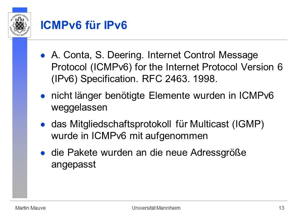 ICMPv6 für IPv6