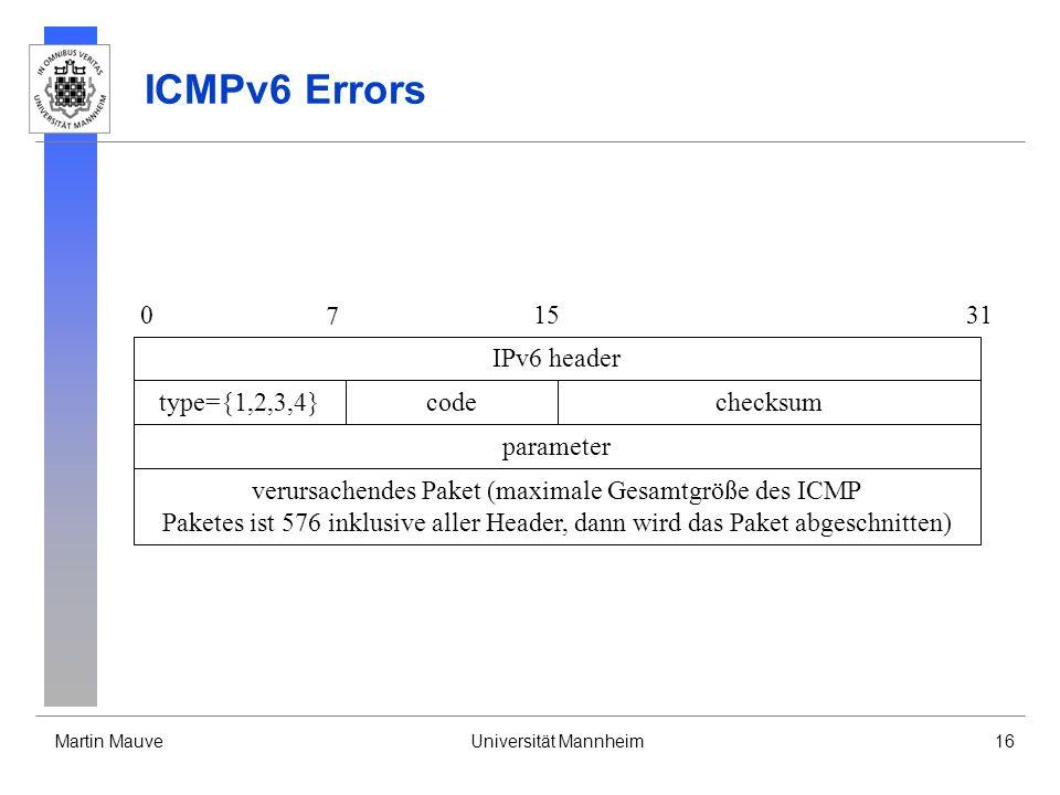 verursachendes Paket (maximale Gesamtgröße des ICMP