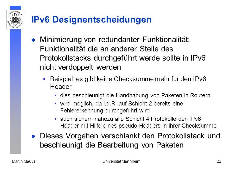 IPv6 Designentscheidungen