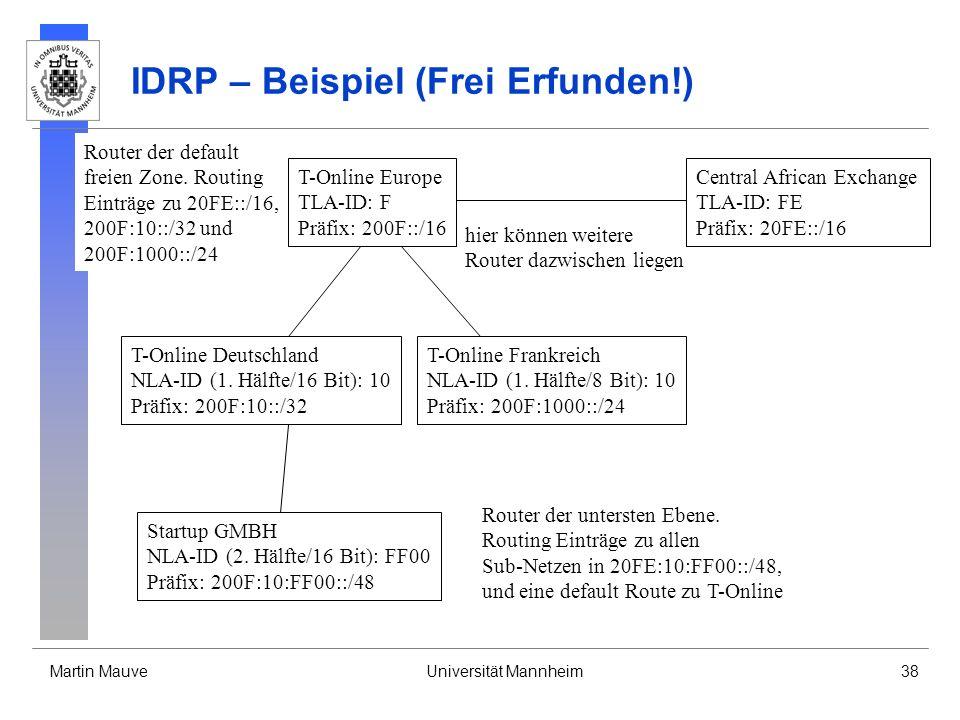 IDRP – Beispiel (Frei Erfunden!)
