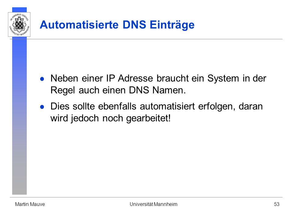 Automatisierte DNS Einträge
