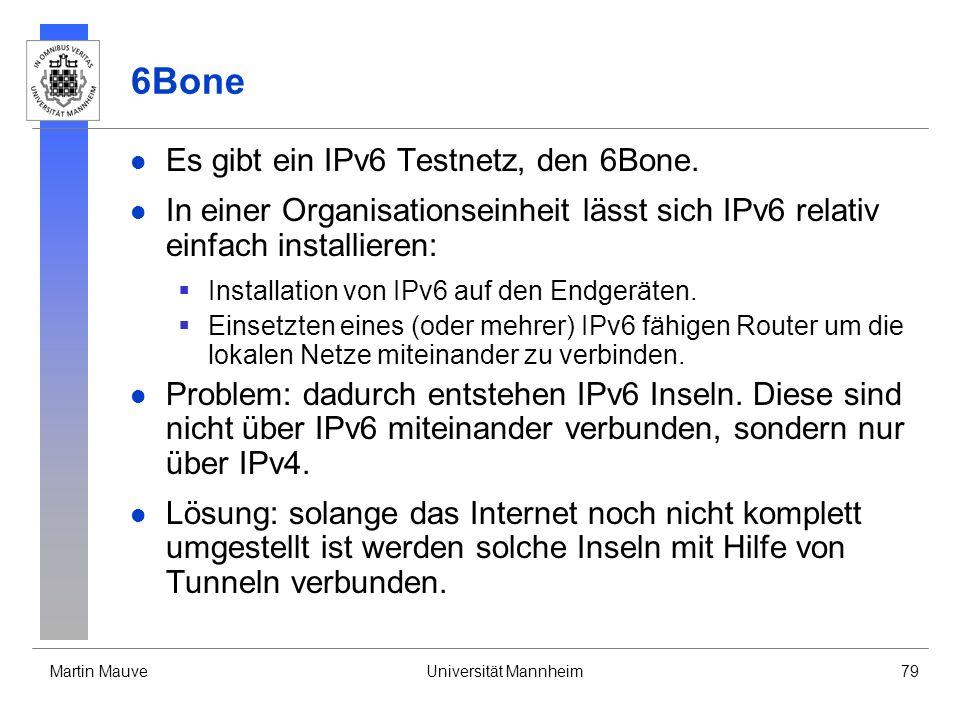 6Bone Es gibt ein IPv6 Testnetz, den 6Bone.