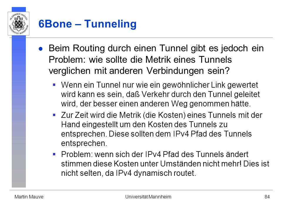 6Bone – Tunneling