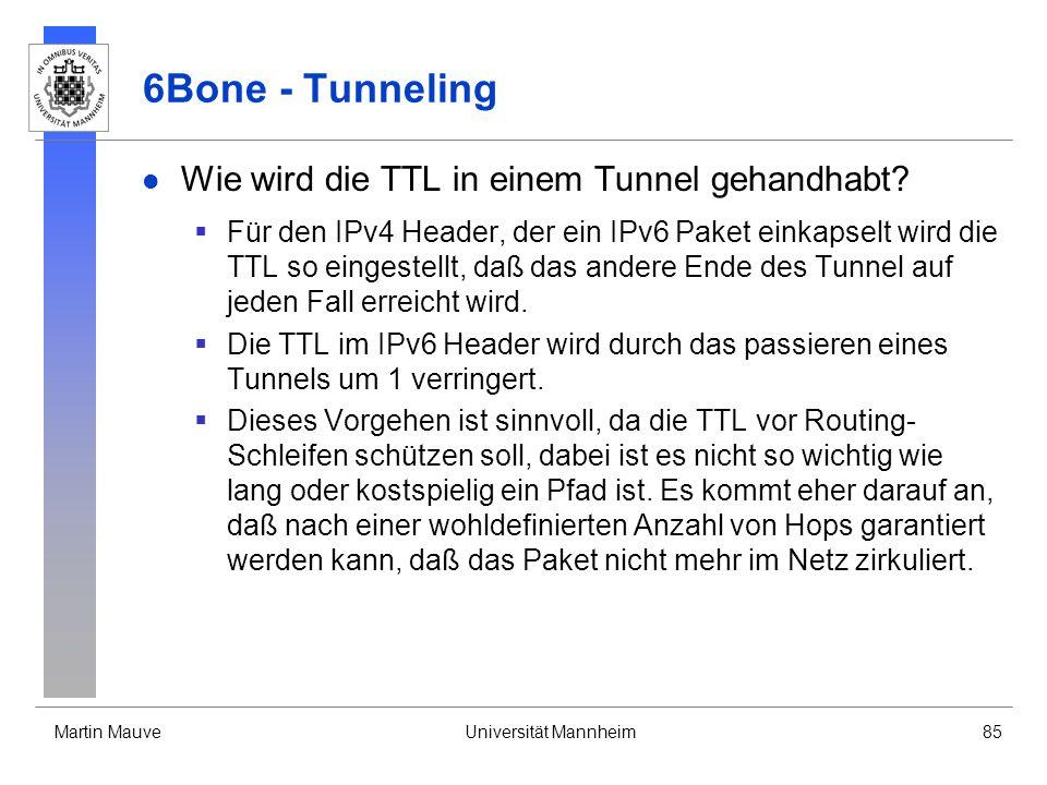 6Bone - Tunneling Wie wird die TTL in einem Tunnel gehandhabt