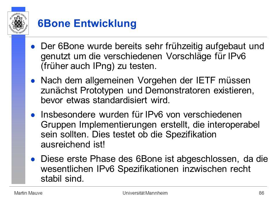 6Bone Entwicklung
