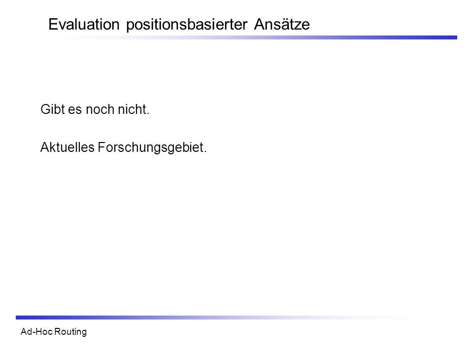 Evaluation positionsbasierter Ansätze
