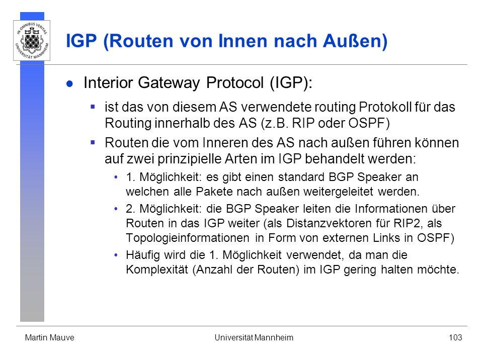IGP (Routen von Innen nach Außen)