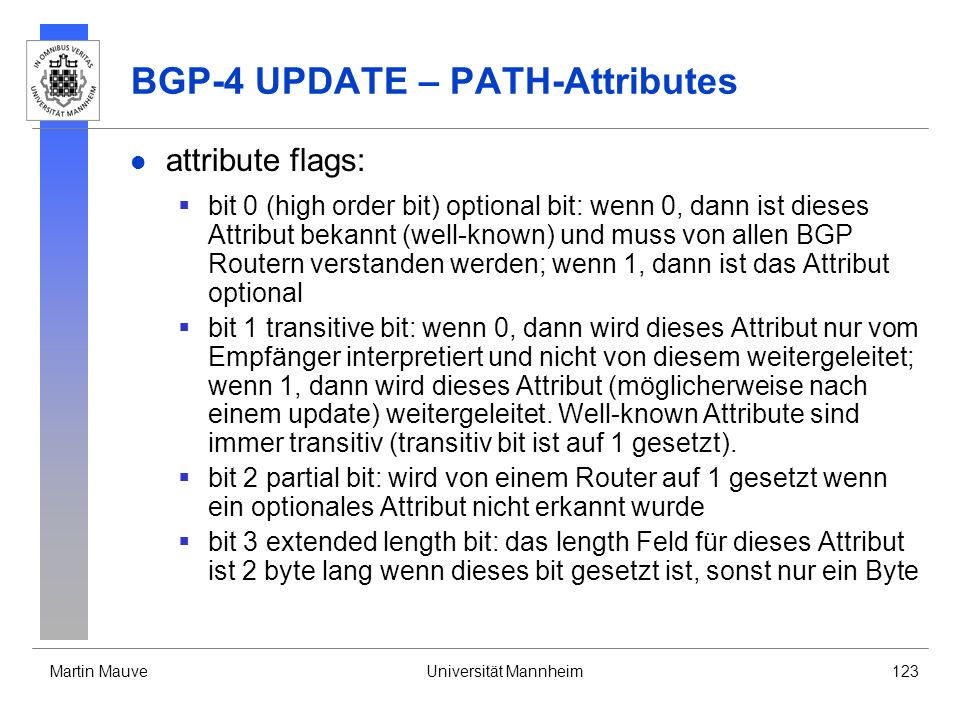 BGP-4 UPDATE – PATH-Attributes