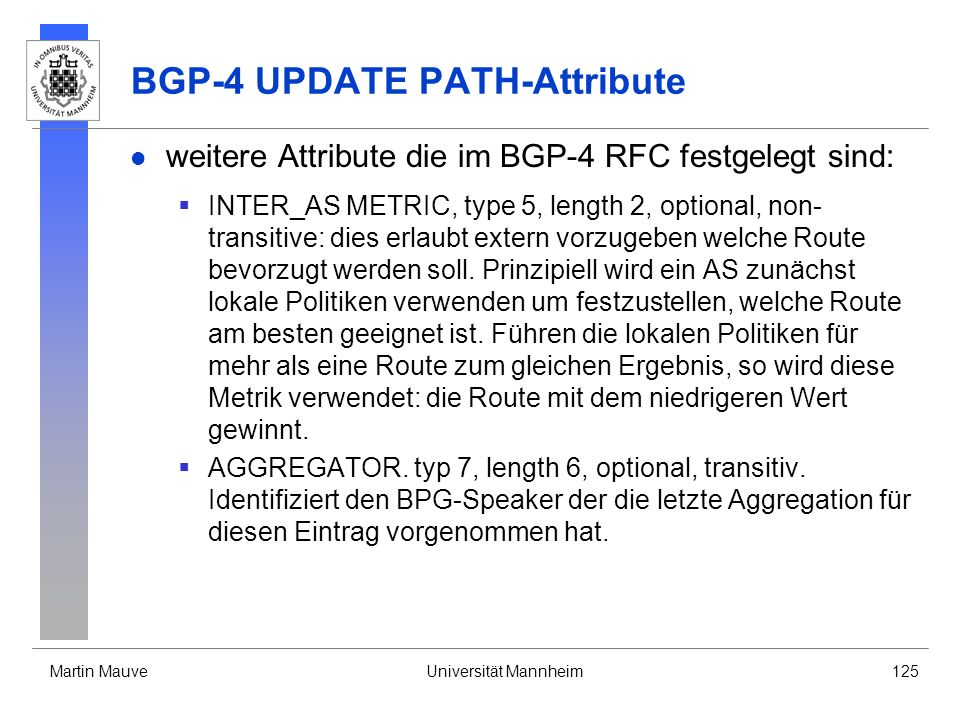 BGP-4 UPDATE PATH-Attribute