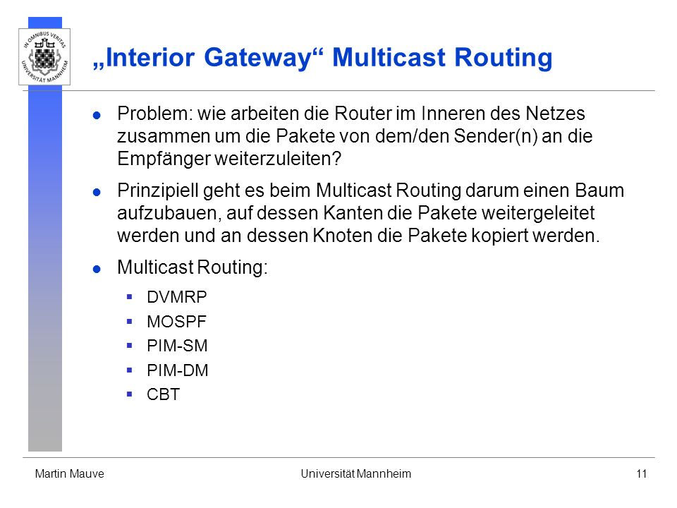 """Interior Gateway Multicast Routing"