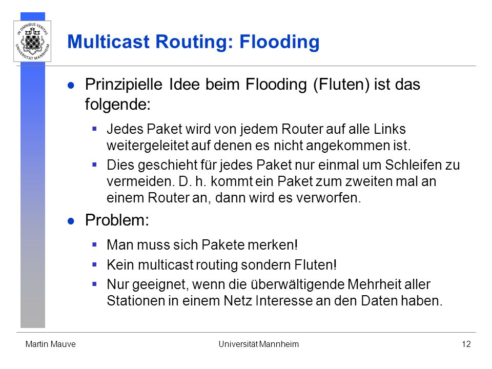 Multicast Routing: Flooding