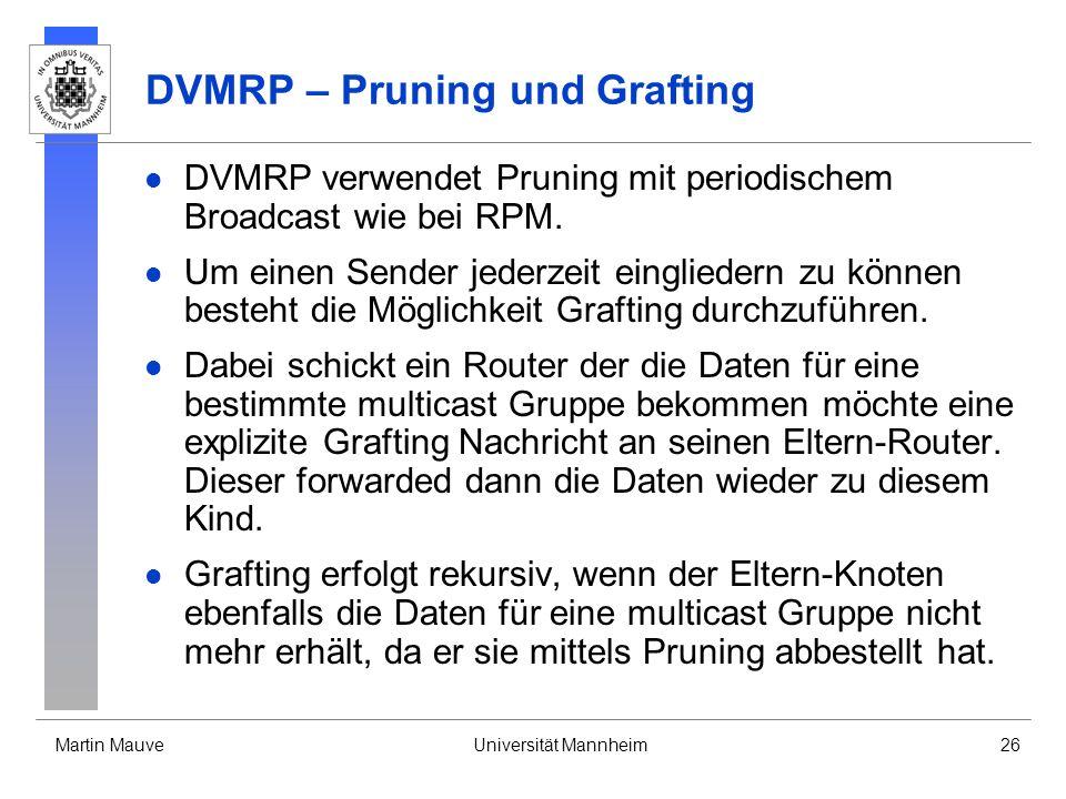 DVMRP – Pruning und Grafting