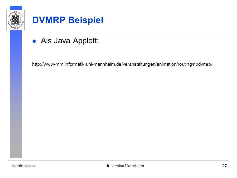DVMRP Beispiel Als Java Applett: