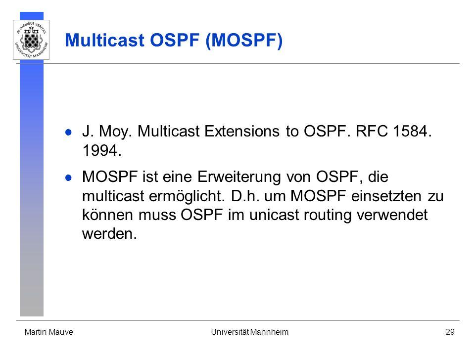 Multicast OSPF (MOSPF)