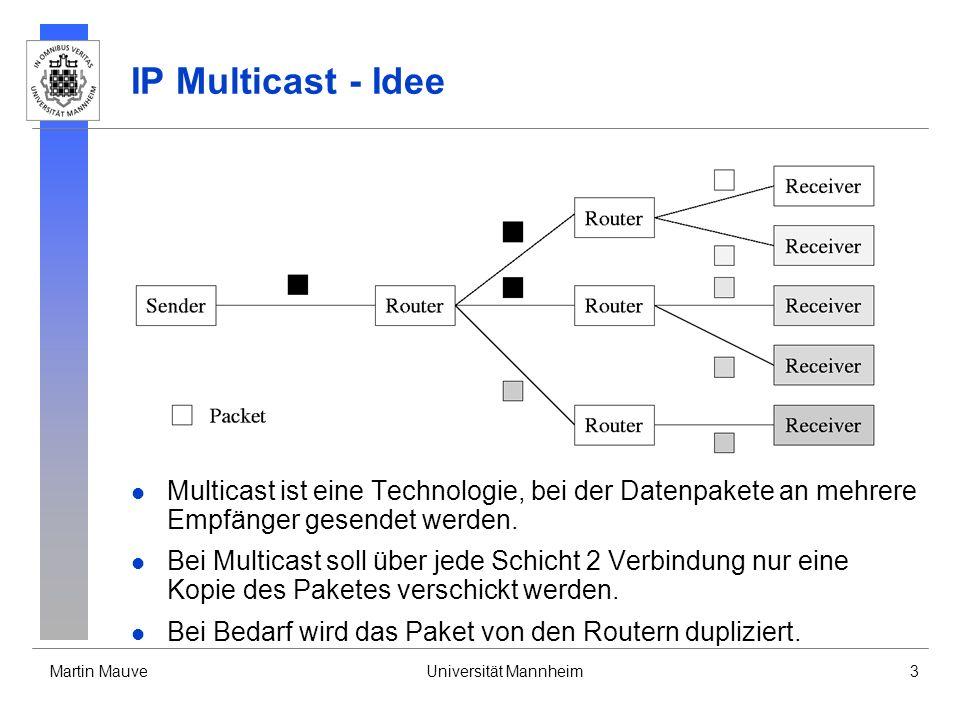 IP Multicast - Idee Multicast ist eine Technologie, bei der Datenpakete an mehrere Empfänger gesendet werden.