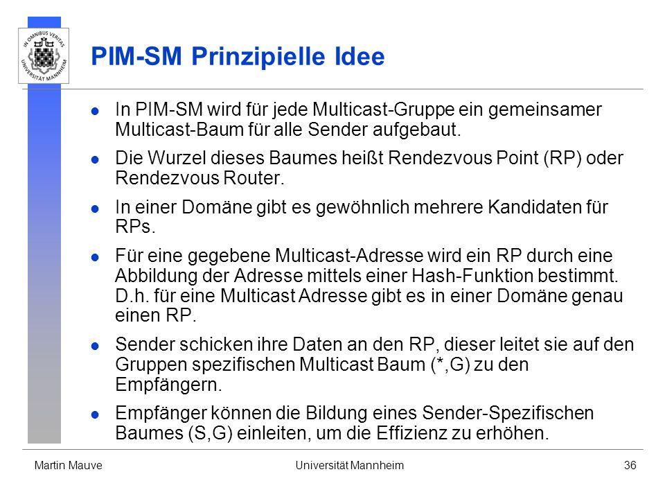 PIM-SM Prinzipielle Idee
