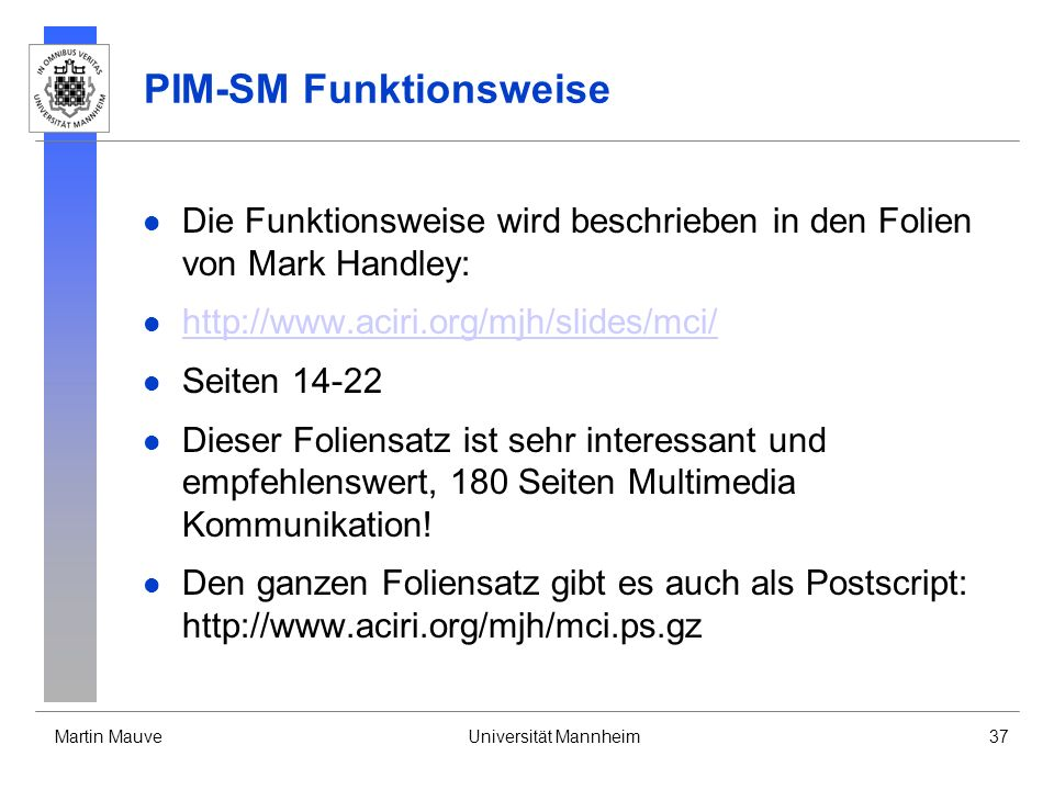 PIM-SM Funktionsweise