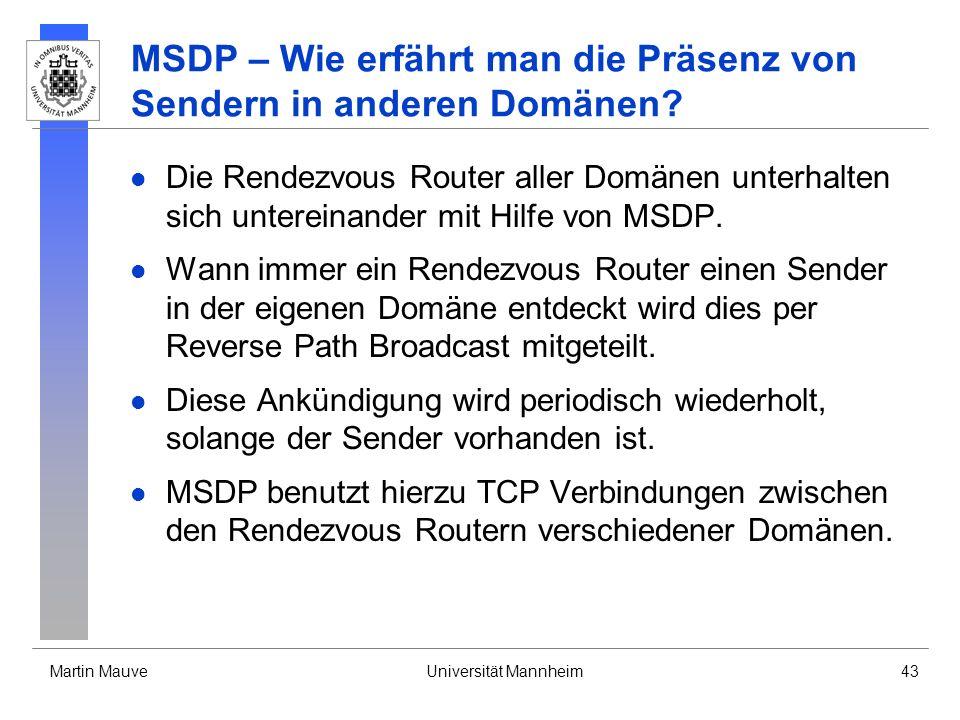 MSDP – Wie erfährt man die Präsenz von Sendern in anderen Domänen