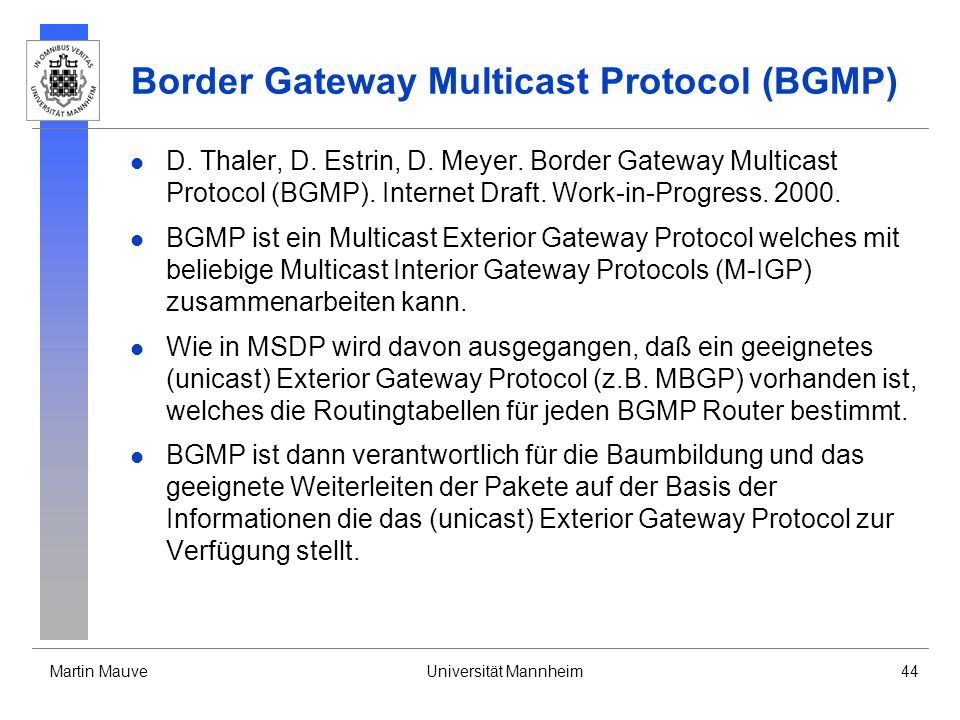 Border Gateway Multicast Protocol (BGMP)