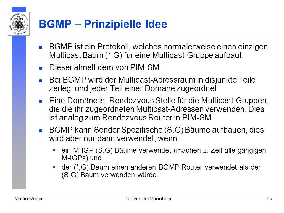 BGMP – Prinzipielle Idee