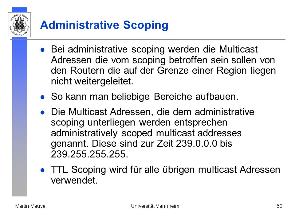 Administrative Scoping
