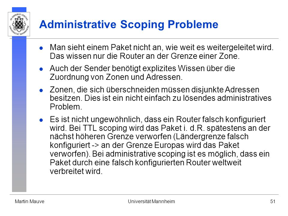 Administrative Scoping Probleme
