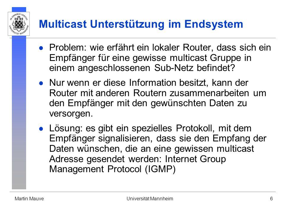 Multicast Unterstützung im Endsystem