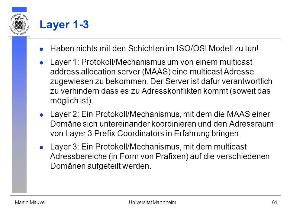Layer 1-3 Haben nichts mit den Schichten im ISO/OSI Modell zu tun!