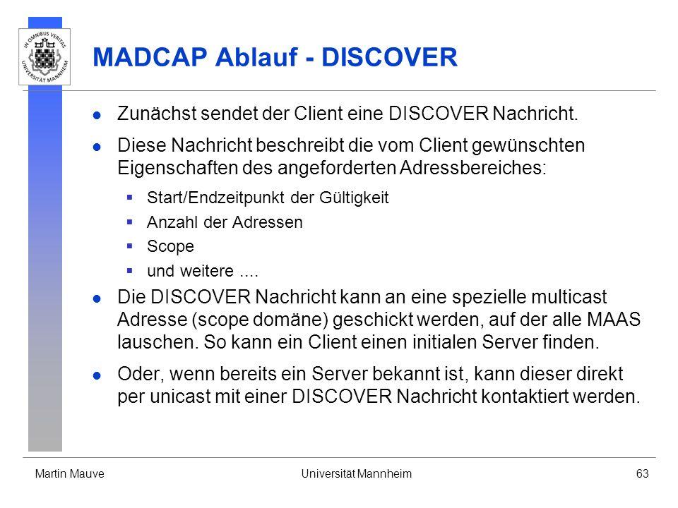 MADCAP Ablauf - DISCOVER
