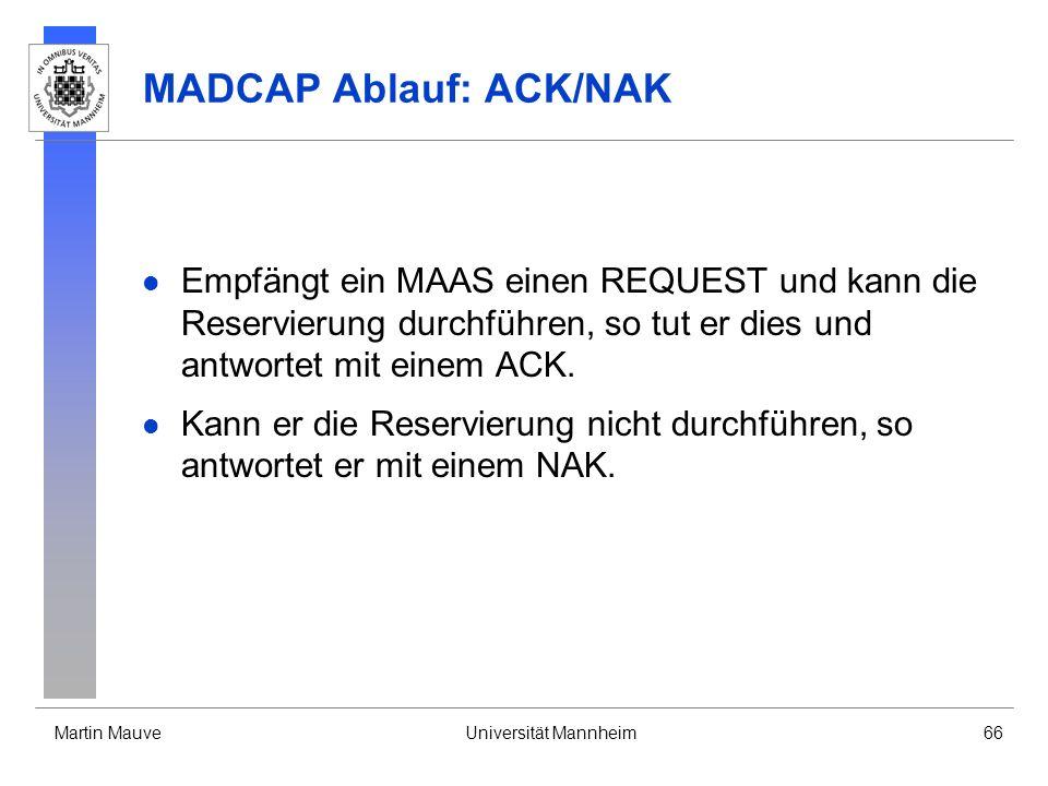 MADCAP Ablauf: ACK/NAK
