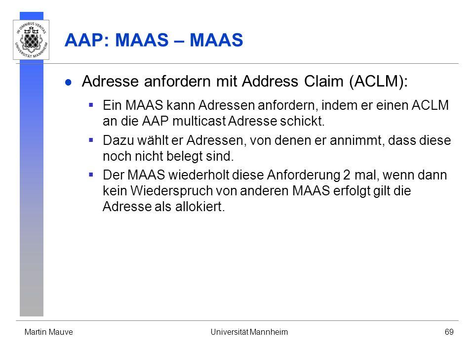 AAP: MAAS – MAAS Adresse anfordern mit Address Claim (ACLM):