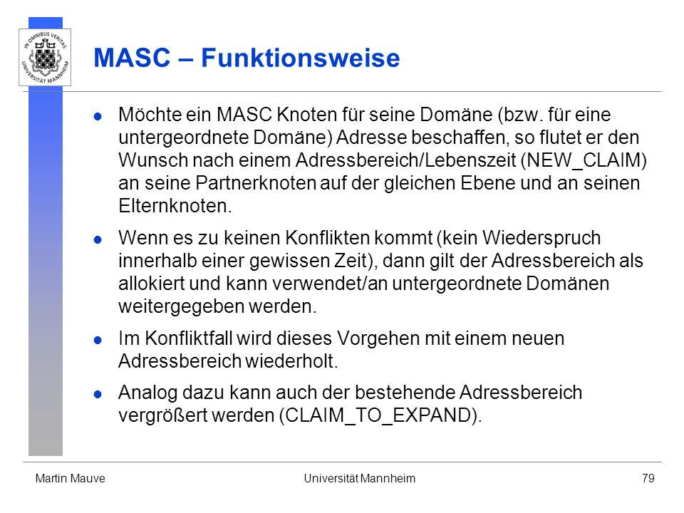 MASC – Funktionsweise